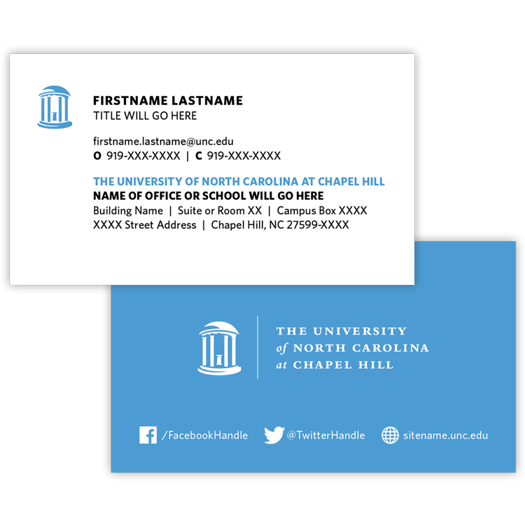 Business cards and stationery campus enterprises unc business cards colourmoves